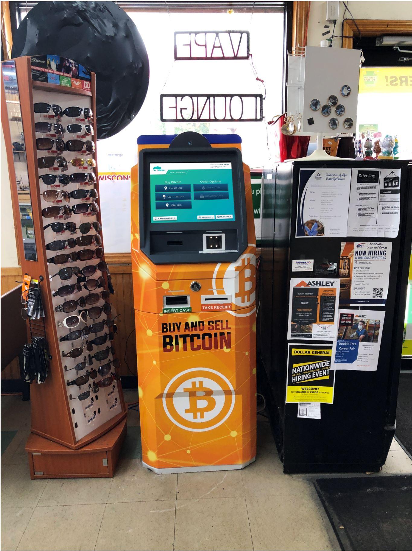 Bitcoin ATM in Hamburg PA by Hippo Kiosks - Hippo ATM
